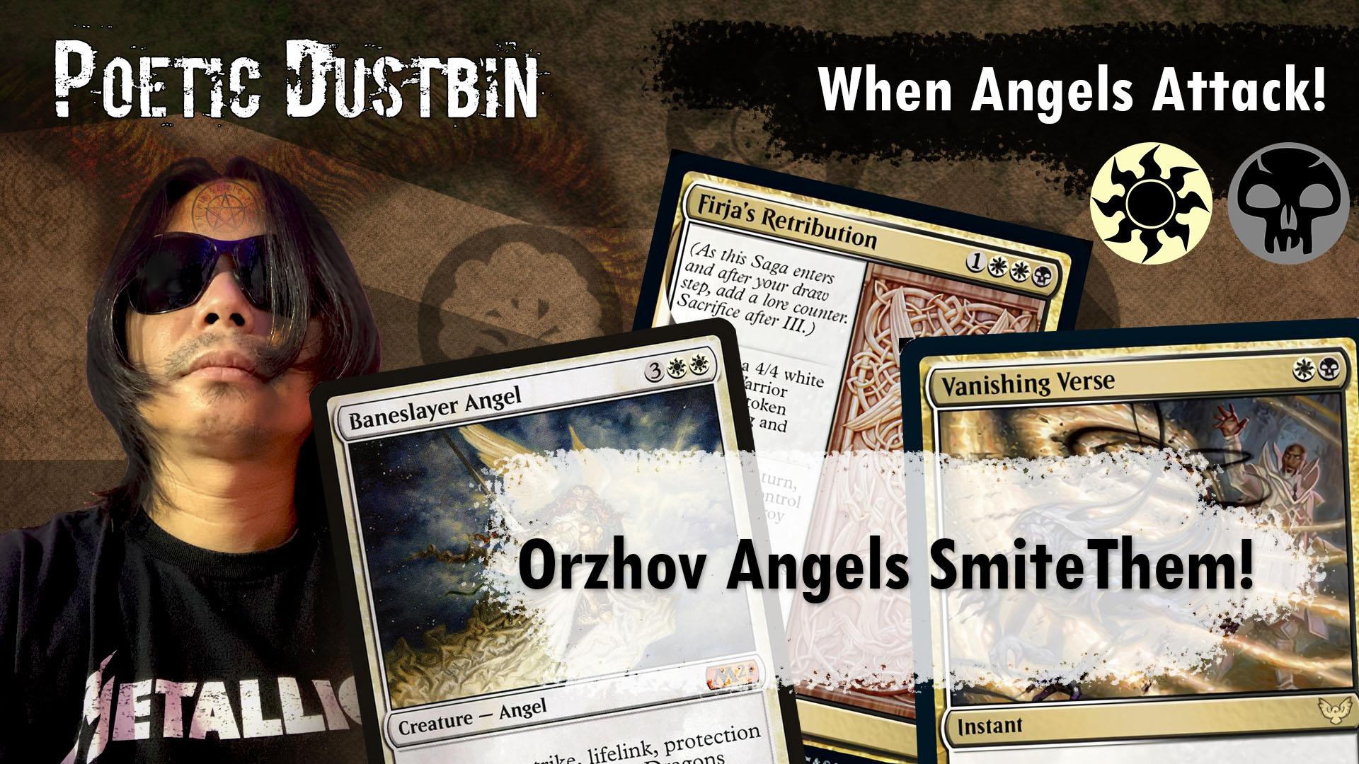 Poetic Dustbin - MTG Arena - Standard Strixhaven Orzhov Angel Deck with Yorion, Baneslayer Angel and Vanishing Verse