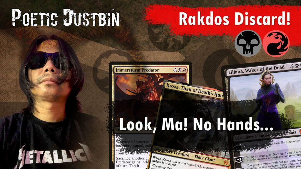 MTG Arena - Strixhaven Standard Rakdos Discard Deck with Valki of Lies, Kroxa and Immerstrum Predator - Poetic Dustbin