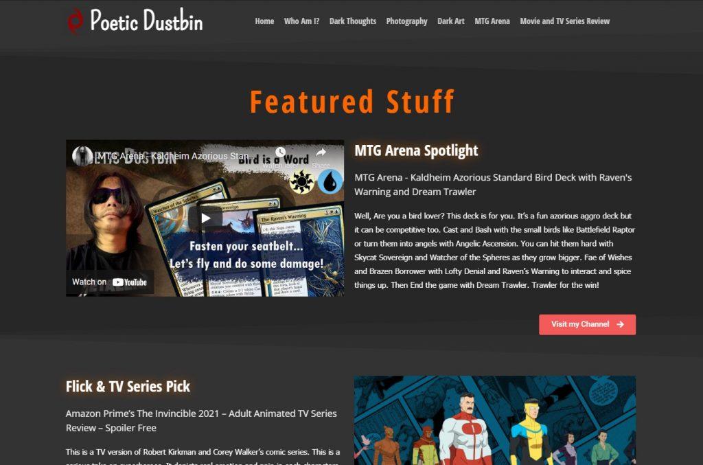 Poetic Dustbin Web Blog Site