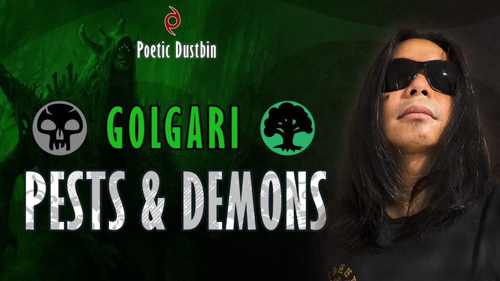 MTG Arena - BO1 Original Standard Golgari Demons and Pests Deck with Daemogoth Titan - Poetic Dustbin