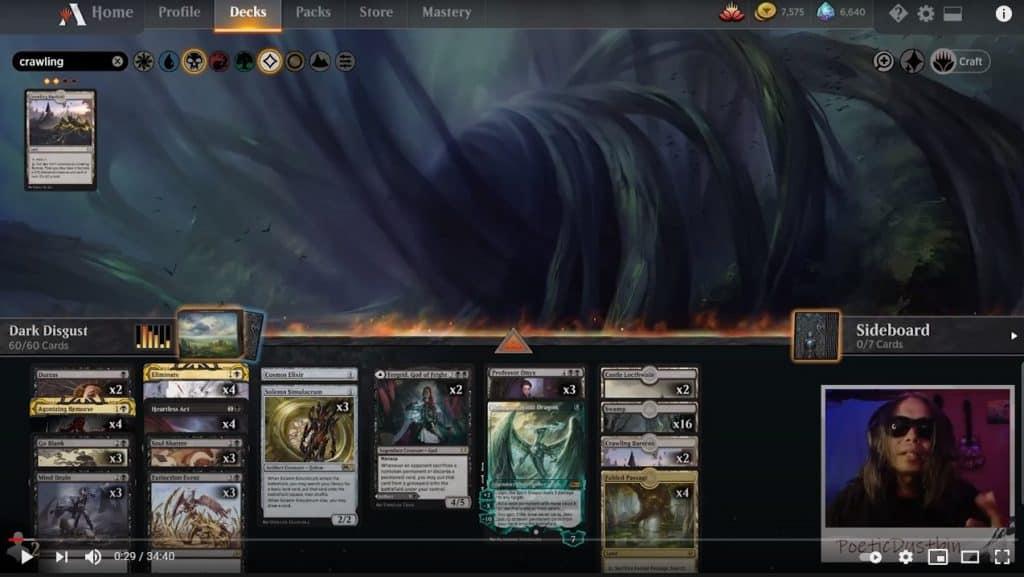 MTG Arena - Standard Mono Black Discard Deck with Professor Onyx, Ugin and Tergrid's Lantern - Poetic Dustbin