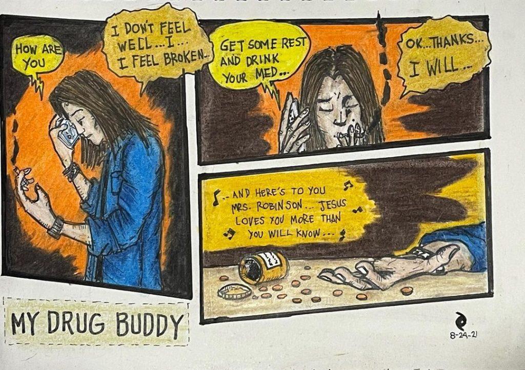 My Drug Buddy - A Short Strip - Poetic Dustbin