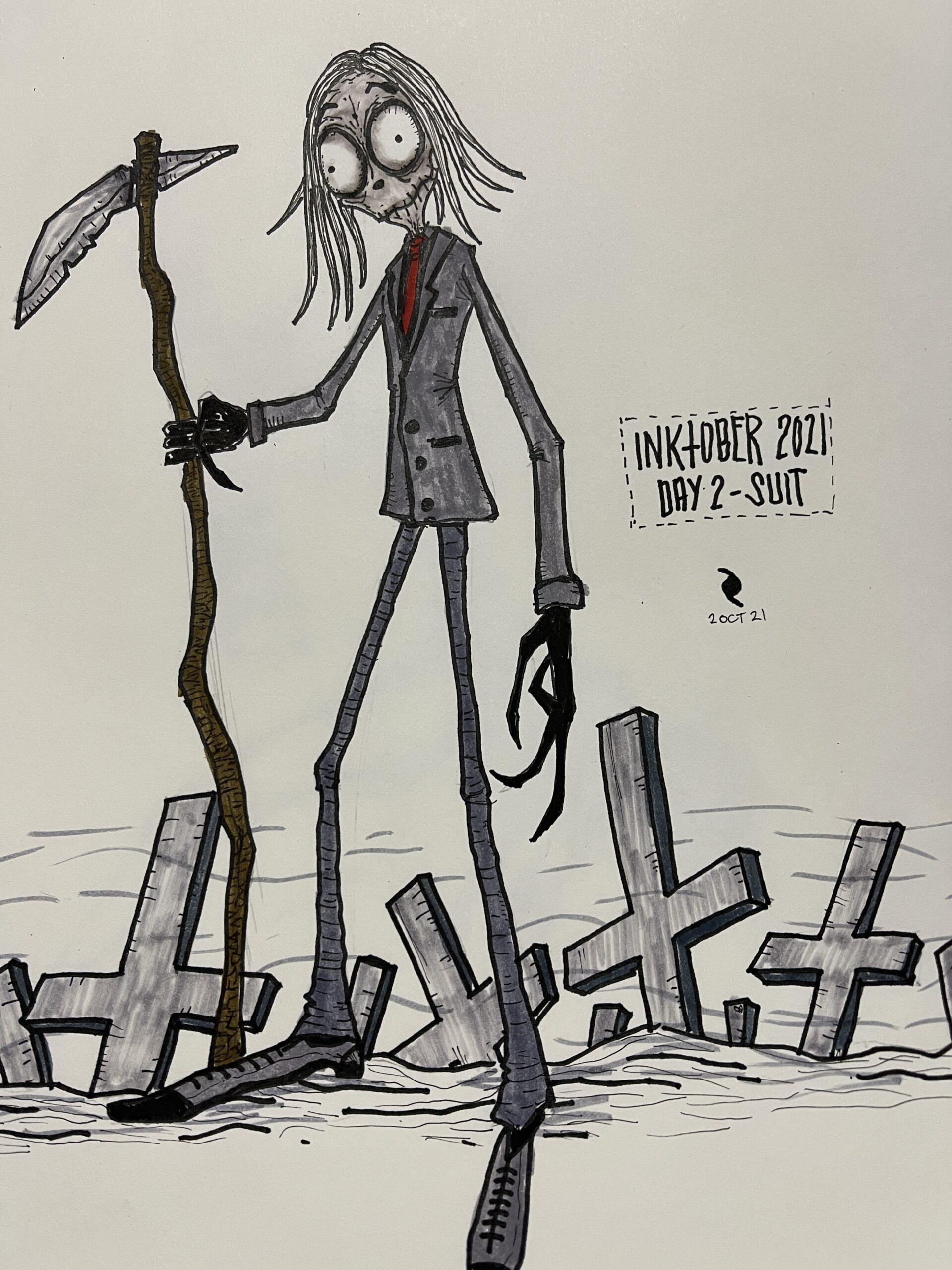 Inktober - Day - 2 | Suit - Poetic Dustbin