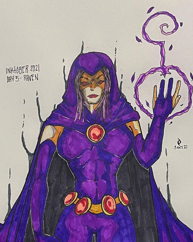 Dark Art - Inktober - Day 5 - Raven
