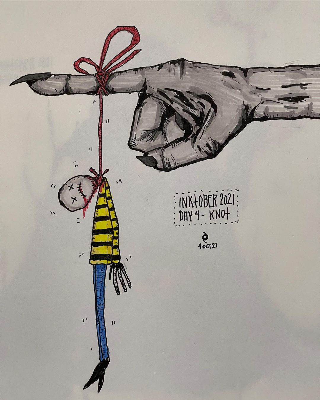 Dark Art - Inktober - Day 4 - Knot