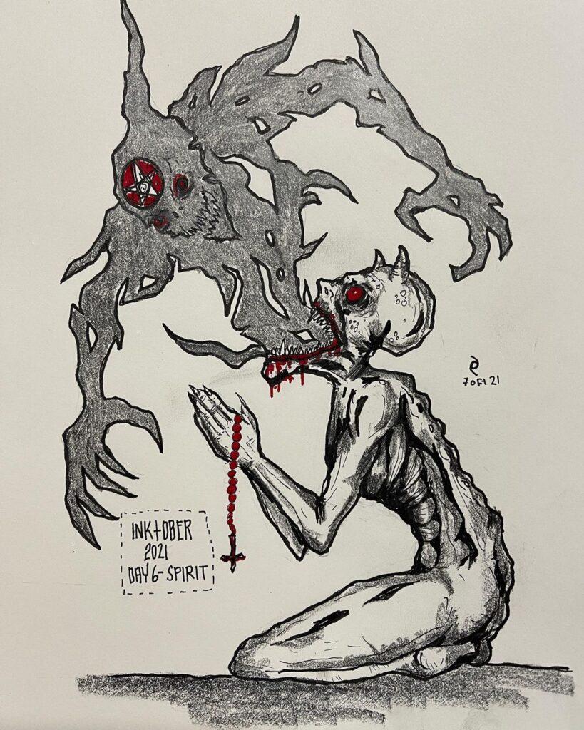 Dark Art - Inktober - Day 6 - Spirit